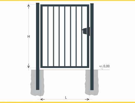 Brána BJ SOLID 1000x1200 / TYČ / ZN+PVC7016