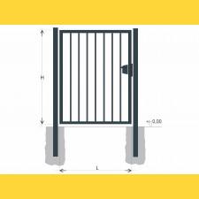 Brána BJ SOLID 1500x1200 / TYČ / ZN+PVC7016