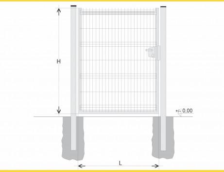 Brána BJ SOLID 1500x1200 / GAL / HNZ