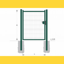 Brána BJ SOLID 1000x1200 / GAL / ZN+PVC6005