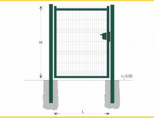 Gate BJ SOLID 1500x1200 / GAL / ZN+PVC6005