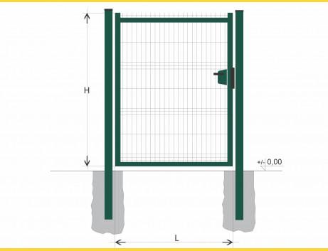 Brána BJ SOLID 1800x1000 / GAL / ZN+PVC6005