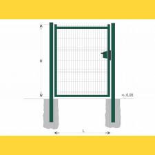 Brána BJ SOLID 2000x1200 / GAL / ZN+PVC6005