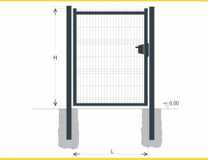 Gate BJ SOLID 1000x1200 / GAL / ZN+PVC7016