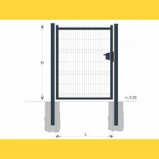 Brána BJ SOLID 2000x1200 / GAL / ZN+PVC7016