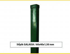 Stĺpik GALAXIA 60x40x1,50x1300 s pätkou / ZN+PVC6005