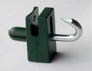 Vodiaca spinka s klinčekom na napínací drôt / čierna / bal.10ks