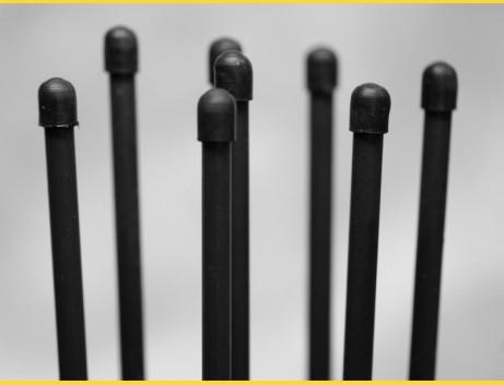 Tyč napínacia 1300mm / ZN+PVC7016