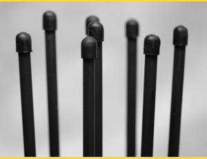Tensioning rods 1550mm / ZN+PVC7016