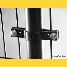 Príchytka panelu na stĺp 48mm / 5mm / priebežná / ZN+PVC7016