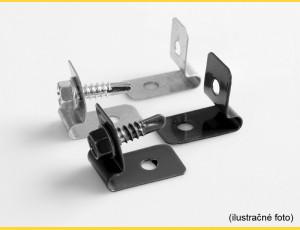Clip L-CLIP  / ZN+PVC7016 / complete with screw