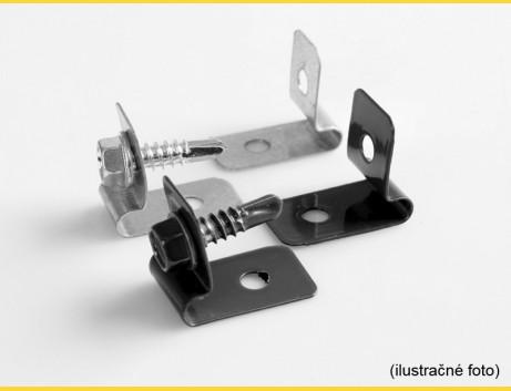 Príchytka L CLIP / ZN+PVC7016 / komplet so skrutkou