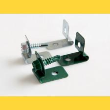 Príchytka L CLIP / ZN+PVC6005 / komplet so skrutkou