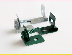 Clip L-CLIP / ZN+PVC6005 / complete with screw