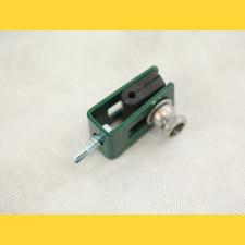 Príchytka U43 na panel / 4mm / ZN+PVC6005 / kompletná