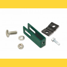Príchytka U43 na panel / 5mm / ZN+PVC6005 / kompletná