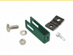 Clip U43 / 5mm / ZN+PVC6005 / complete