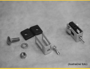 Clip U43 / 4mm / ZN+PVC7016 / complete