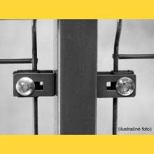 Príchytka U43 na panel / 5mm / ZN+PVC7016 / kompletná