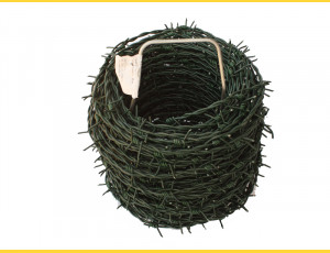 Barbed wire 2,5/2,0 / 100m / ZN+PVC6005