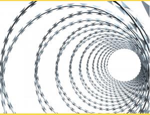 Drôt ostnatý žiletkový priemer balenia 450 mm / 8-10 m