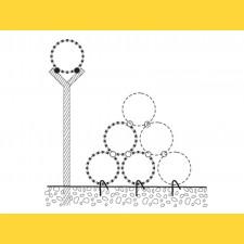 Drôt ostnatý žiletkový o 45cm