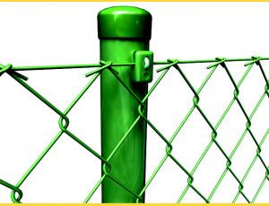 Stĺpik poplastovaný (BPL) 48x1,50x2300 / ZN+PVC6005