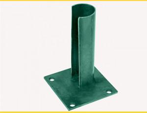 Základová pätka na stĺp 38mm / ZN+PVC6005