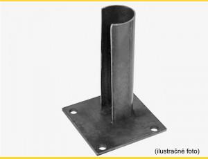 Základová pätka na stĺp 48mm / ZN+PVC7016