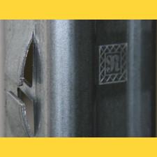 Stĺpik vinohrad. radový RUBÍN / 50x30x1,50x2500 / S250GD+Z275 / ZN / protichodné háčiky