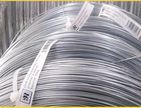 Drôt ZN+AL 2,50mm / 700-900MPa / ZN125g / 25kg - vinohradnícky