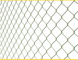 Chain link fence 60/3,50-2,50/180/15m / PVC BND / ZN+PVC6005