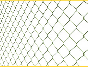 Chain link fence 60/3,50-2,50/200/15m / PVC BND / ZN+PVC6005