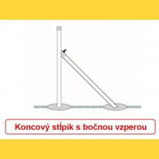 Stĺpik okrúhly pozinkovaný 38x1,25x1500 / ZN