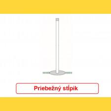 Stĺpik okrúhly pozinkovaný 48x1,50x2800 / ZN