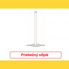 Stĺpik okrúhly pozinkovaný 48x1,50x3000 / ZN