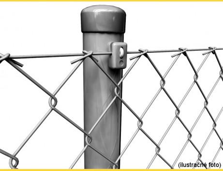 Stĺpik okrúhly poplastovaný (BPL) 48x1,50x1500 / ZN+PVC7016