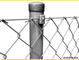 Stĺpik poplastovaný (BPL) 48x1,50x2300 / ZN+PVC7016