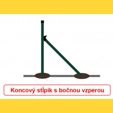 Vzpera okrúhla poplastovaná (BPL) 38x1,25x2000 / ZN+PVC6005