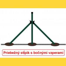 Vzpera okrúhla poplastovaná (BPL) 38x1,25x1500 / ZN+PVC6005