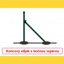 Vzpera okrúhla poplastovaná (BPL) 38x1,25x2300 / ZN+PVC6005
