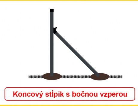 Vzpera okrúhla poplastovaná (BPL) 38x1,25x2500 / ZN+PVC7016