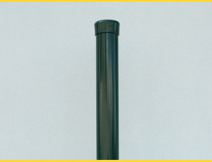 Stĺpik okrúhly poplastovaný (BPL) 38x1,25x3000 / ZN+PVC6005