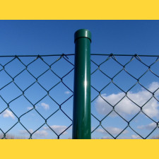 Stĺpik okrúhly poplastovaný (BPL) 48x1,50x2500 / ZN+PVC6005