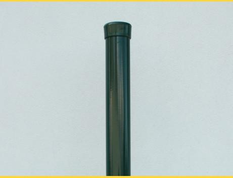 Stĺpik okrúhly poplastovaný (BPL) 48x1,50x1500 / ZN+PVC6005