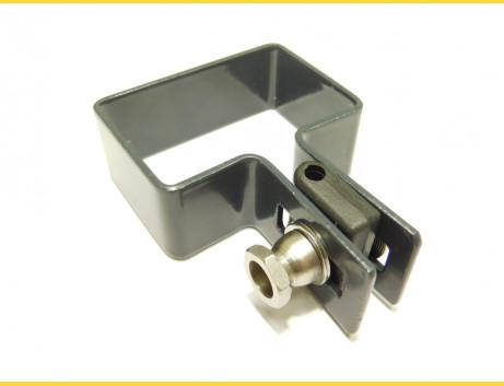 Príchytka panelu na stĺp 60x40mm / 5mm / koncová / ZN+PVC7016