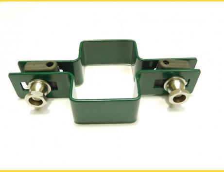 Príchytka panelu na stĺp 60x40mm / 5mm / priebežná / ZN+PVC6005