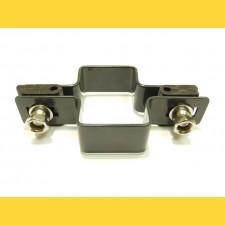 Príchytka panelu na stĺp 60x40mm / 4mm / priebežná / ZN+PVC7016