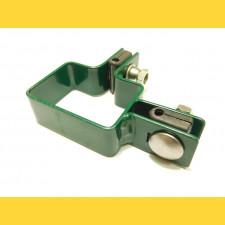 Príchytka panelu na stĺp 60x40mm / 4mm / rohová / ZN+PVC6005