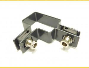 Príchytka panelu na stĺp 60x40mm / 5mm / rohová / ZN+PVC7016
